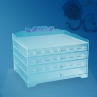 customized acrylic nail polish display cabinet
