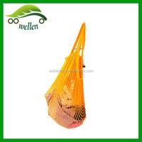 New pure cotton mesh material shopping bag / beach bag toy stores folded Mesh fabric drawstring bag