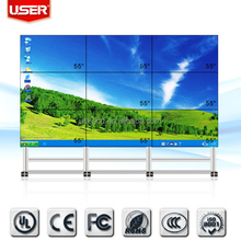 "High definition shopping mall 46 "" indoor led video wall screen broadcast in tv station 3*4 did slim edge 4*4"