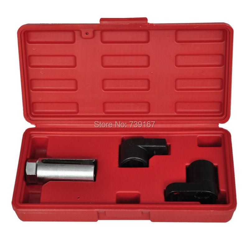 Socket Wrench Storage Universal 3pcs Oxygen Sensor Socket Wrench Tool Set With 1 2 Amp 3 8
