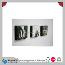 Music CD Display Wooden Frame 1piece Black color Home Decor Wall Mount Table Top