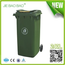EN840 HDPE 240L 3 Recycle Wholesale Outdoor Plastic Franch Garbage Bin With Lid