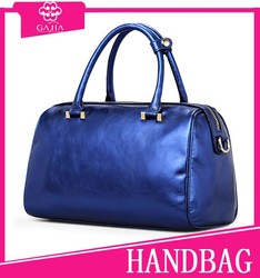 77.7USD OEM bags brand real women genuine leather hand bag with royal bule