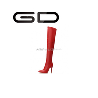GD 2015 sexy red stiletto high heel over knee boots