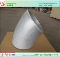 ASTM B 361 8'' SCH 40S 6061-T6 LR 45 Degree Aluminum Elbow