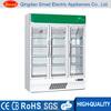 Fan cooling double door upright display showcase fridge refrigerator
