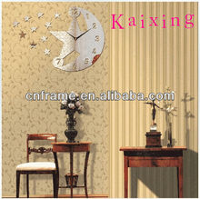 Wholesale Hot Mirror Decorative Wall Clock With Stars Shaped KXC-300