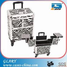 Aluminum + abs jewelry trolley beauty case