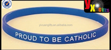 "Proud to be Catholic Faith Bracelet Silicone 8"" Stretchable - Christian Brands Gift"