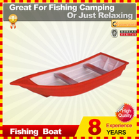 Small plastic fishing boat for lake river pond