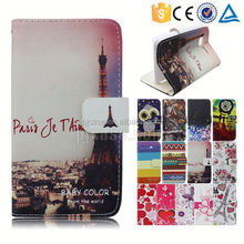 Color printing leather with card slots mobile phone accessory for vivo X5 MAX