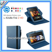 360 rotation case cover for Amazon Kindle Fire HD 7 Tablet 2012 edition stock