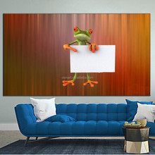bulk items oil painting for sale Wall stickers 3d kids room decor funny cartoon animal frog oil paintings 3d wallpaper