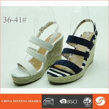 2015 high heel wedge sandals black parallel upper strap