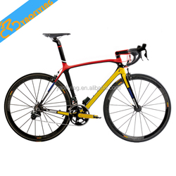 popular 2015 complete Carbon fiber Road Bike 22 speed full bicycle with 50mm carbon wheelset carbon road bike for sale