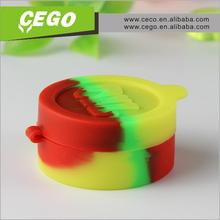 2015 wholesale High Quality silicone customized bho oil container,butane hash oil silicone container