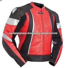 nueva cuero de la motocicleta chaqueta de equitación