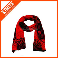 Wholesale knitted acrylic football team sports scarf