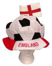 Hot Sale England Supporter Football With Flag Hat High Quality Carnival Party Hat HT2713