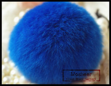Rex Rabbit Fur Pom Poms For Bag Charm Accessory 100% Real Key Chain For Cell Phone
