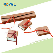 Luxury Square Package Bowknot Jewellery Bracelet Necklace Present Gift Box Case