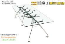 Modern Tempered Glass Conference desk 923-3200