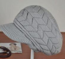 Winter Women Knitting Pattern Earflap Rabbit Hat