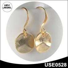 high quality zinc alloy matt gold earrings jewelry ,gold earring models