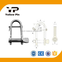 Shackle Key Pin with Bar Flat AISI316 marine rigging hardware, turnbuckls, eye bolt, stainless steel is available