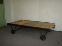 vintage wood coffee table with wheels/classic reclaimed wood coffee table