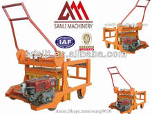2013 New! Diesel engine Mobile Egg Laying Hollow Block Making Machine QCM4-30 With Diesel Mixer
