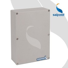 Saipwell SP-AG-FA5 222 * 145 * 55 mm de aluminio en carril Din IP66 Junctin caja a prueba de agua del armario eléctrico