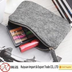 2015 new arrivals wholesale AZO free durable felt cosmetic bag made in China
