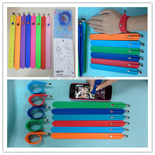 2015 Silicone Stylus Touch Pen,Silicone Touch Pen Bracelet for Smartphone Tablets