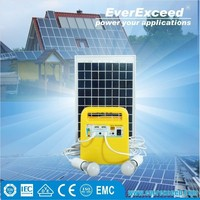 EverExceed 10w portable Solar Home System with Build-in controller