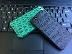 luxury crocodile leather case for iphone 5 5s genuine leather for iphone 5 cover