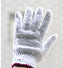 cheap knitted cotton working gloves for hand protection