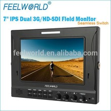 """FEELWORLD 16:10 wide screen 7"""" 3G-SDI Camera Top Monitor for DSLR camera"""