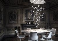 Clear Lead Glass Angel Falls Chandelier   Modern Rain Hanging Chandelier Lighting for Interior Decorative