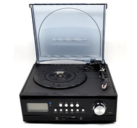 Top sale factory price wholesale gramophone record player,classical style good quality multiple record player