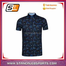 Stan Caleb Sports custom sublimation dry fit and moisture wicking men polo t shirts