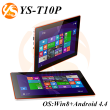 Factory Tablet 10.1 inch win 8 and Android 4.4 tablet ips hd screen tablet