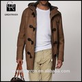 China 2015 por mayor venta fábrica chaqueta de invierno de hombre con parka capucha de cuero