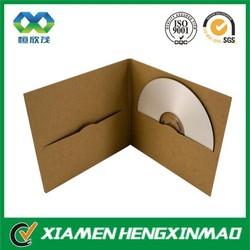 Custom kraft paper CD/DVD/VCD paper cases for CD/DVD/VCD SLEEVES
