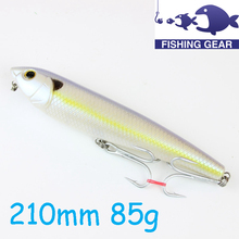 2015 New Bass Fishing Gear Saltwater Salmon Lures 21cm 85g Hard Plastic Lure Best Fishing Lures