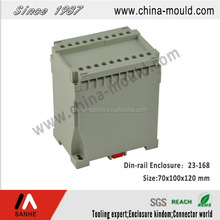Flame retardant ABS electronic standard din-rail enclosure with terminal block