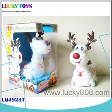 New ELECTRIC ANIMALS TOYS Product BEST SELLING Xmas ITEMS B/O CHRISTMAS ORNAMENTS DEER WITH MUSIC LIGHT FOR KIDS HOME DECORATION