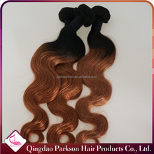 Full cuticle one donor malaysian Hair extensions two tone