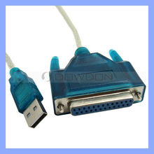 Usb to Parallel Printer Cable Adapter Computer Cord Computer Printer Cable