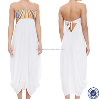 2015 manufacturer for latest dress design photos for girls best fancy tube top beach dress